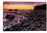 Sunrise At Seaham, Canvas Print
