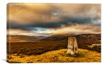 Cheviot Under Cloud from Coldlaw, Canvas Print