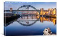 Newcastle Three Bridges Over The Tyne, Canvas Print