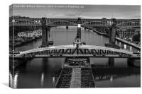 Swing Bridge Newcastle, Canvas Print