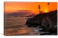 Sunset Over Pismo Beach, Canvas Print