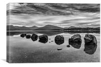 Rocks at Loch Lomond, Canvas Print