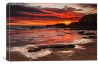 Sunrise Over Featherbed Rock, Canvas Print