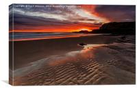 Sunrise At Featherbed Rock, Canvas Print