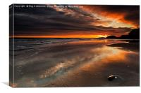 Featherbed Rock Sunrise, Canvas Print