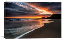 Dawn Over Seaham Harbour Beach, Canvas Print
