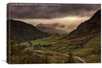 Borrowdale Valley, Canvas Print
