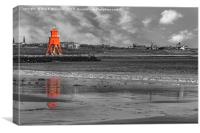 Groyne Lighthouse, South Shields, Canvas Print