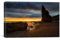 Seaham Chemical Beach Sunrise, Canvas Print