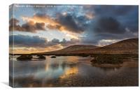 Gorriones Lagoon, Fuerteventura, Canvas Print