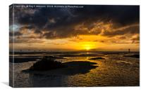 Sunrise, Gorriones,  Costa Calma, Canvas Print