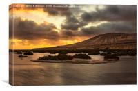 Costa Calma Sunset, Canvas Print