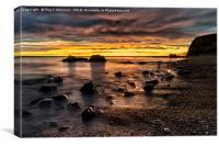 Sunrise at Seahams Chemical Beach, Canvas Print