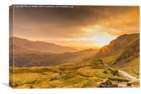 Sunrise above Pen Y Pass, Canvas Print