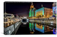 Liver building Liverpool waterfront , Canvas Print