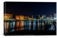 Albert Dock at night , Canvas Print