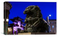 Chinese statue , Canvas Print