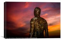 Iron man sunset, Canvas Print