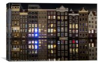 Amsterdam at night , Canvas Print
