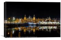 Amsterdam central train station , Canvas Print