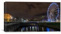 Big wheel Liverpool waterfront , Canvas Print