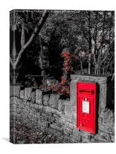 Postbox in red, Canvas Print