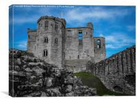 Grey castle blue sky, Canvas Print