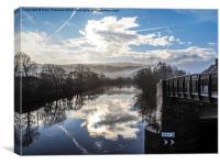 Big sky over Hopton, Canvas Print