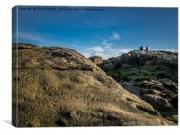 Up on the top of Ilkley Moor, Canvas Print