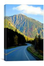 Highway 93 Rocky Mountains, Canvas Print