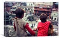 Kathmandu Boys, Canvas Print