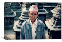 Nepalese Man, Canvas Print