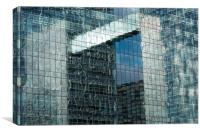 Office building reflection, Canvas Print