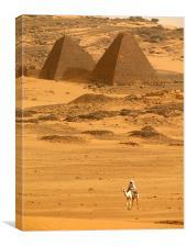 Pyramids in Meroe, Canvas Print