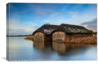 Hickling boathouse, Canvas Print