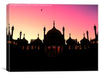 Pavilion Sunset, Canvas Print