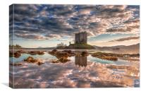 Castle Stalker Reflected, Canvas Print