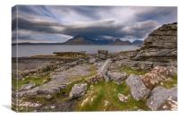 Black Cuillins from Elgol beach, Canvas Print