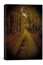Calm road, Canvas Print