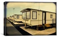 Caravan site, Canvas Print
