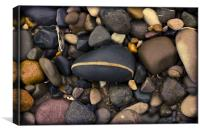 Beach pebbles, Canvas Print