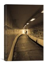 Tunnel Walk, Canvas Print