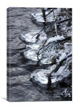 Hovering icicles, Canvas Print