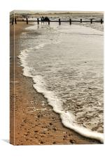 Beach waves, Canvas Print