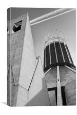 LIVERPOOL CATHOLIC CATHEDRAL BLACK AND WHITE