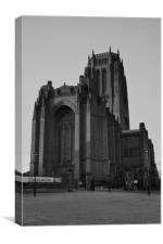 LIVERPOOL ANGLICAN CATHEDRAL BLACK AND WHITE