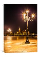 VENICE AT NIGHT, Canvas Print
