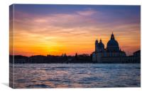 VENICE SUNSET, Canvas Print