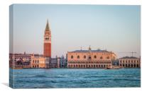 VENICE WATERFRONT AT SUNSET, Canvas Print