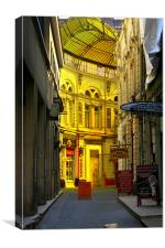 Yellow street, Canvas Print